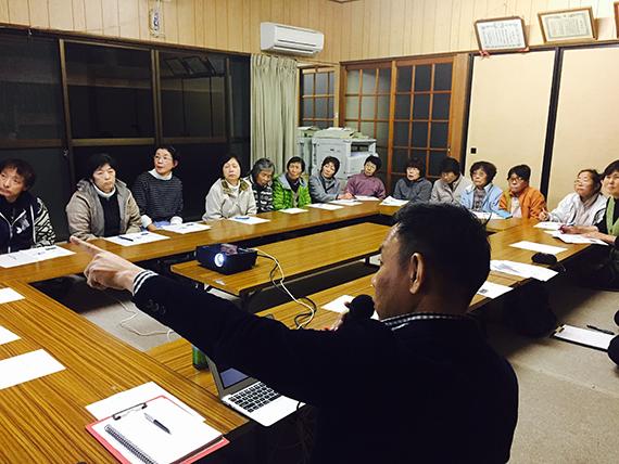 静岡市大沢地区で未来に向けた会議。